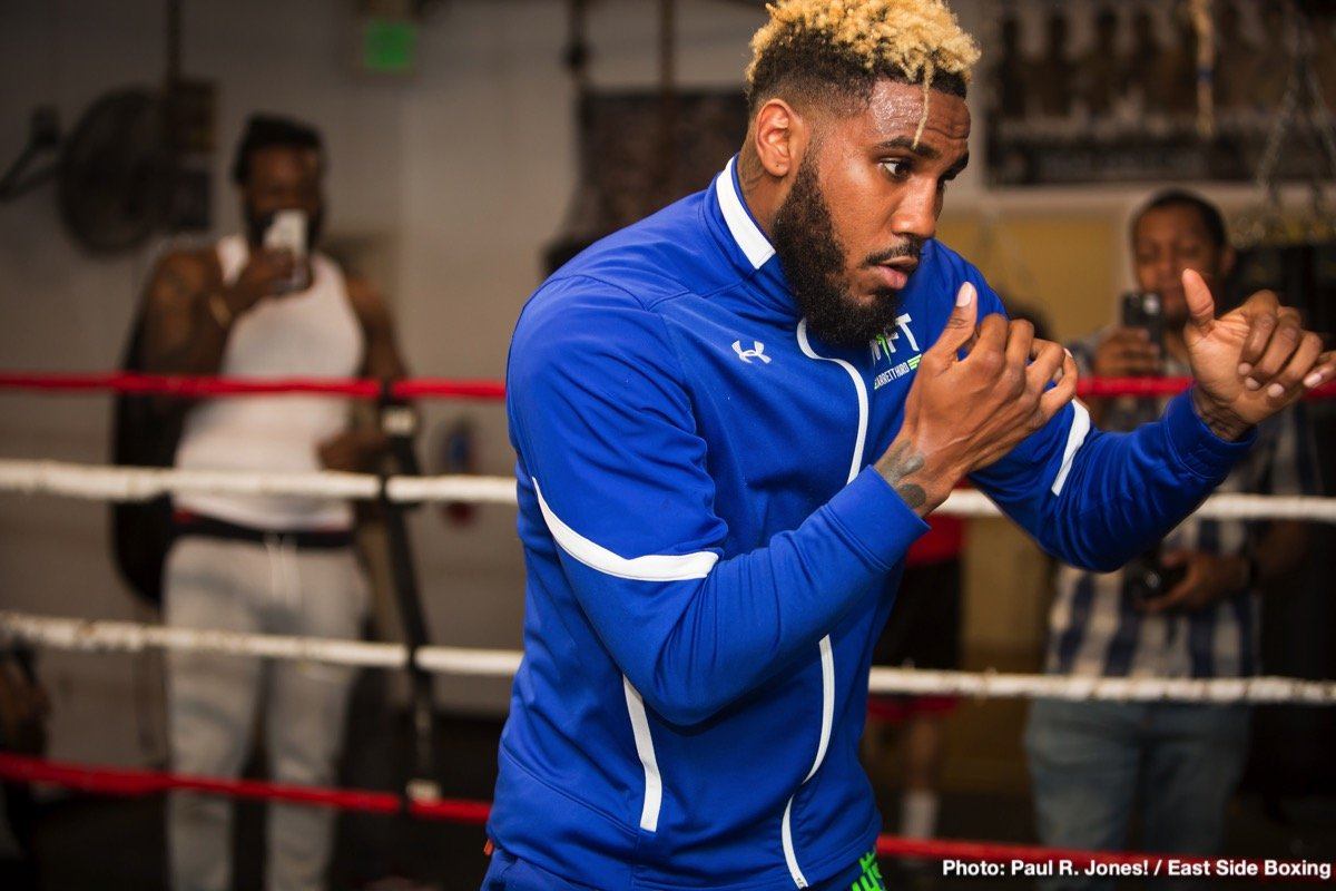 "Jarrett Hurd, Julian ""J-Rock"" Williams - Unified and undefeated IBF and WBA 154-pound champion ""Swift'' Jarrett Hurd held a media workout at his gym in Temple Hills, Maryland on Tuesday as he prepares for his hometown return in a title defense against top contender Julian ""J-Rock'' Williams Saturday, May 11 that headlines Premier Boxing Champions on FOX and FOX Deportes from EagleBank Arena in Fairfax, Virginia."