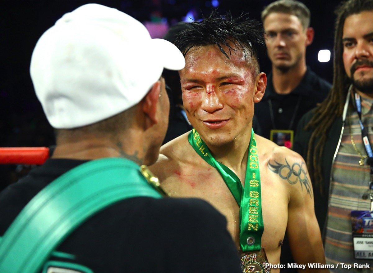 Francisco Vargas - WBC super featherweight champion Miguel Berchelt (36-1, 32 KOs) beat the hapless former WBC 135 pound champion Francisco 'El Bandito' Vargas (25-2-2, 18 KOs) like a drum in defeating him by a sixth round stoppage on Saturday night on ESPN in front of a sizable crowd of 4,424 at the Tuscon Arena in Tucson, Arizona.