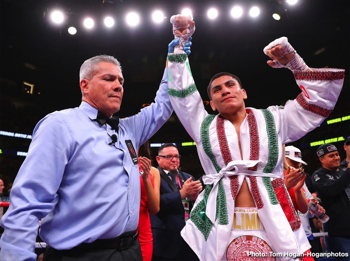 Adrien Broner - Undefeated welterweight contender Vergil Ortiz Jr. (15-0, 15 KOs) is looking to add Adrien Broner's name to his resume when boxing restarts. The 22-year-old Ortiz Jr. is called out out the 31-year-old Broner (33-4-1, 24 KOs) in a way by posting a six-year-old photo of the two on his social media site and asking his boxing fans if they want to see him fight him.