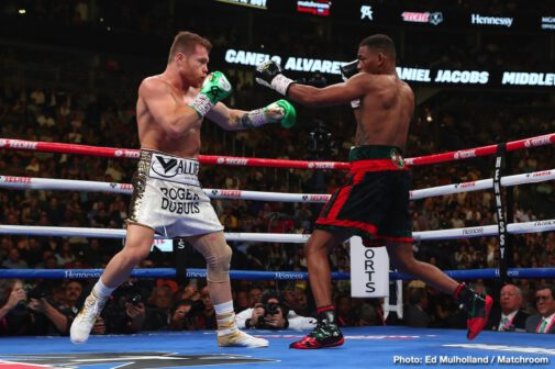 "Daniel Jacobs, Saul ""Canelo"" Alvarez -  Canelo Alvarez (52-1-2, 34 KOs) successfully defended his WBC, WBA, Lineal and  Ring Magazine Middleweight World Titles and became the new IBF Middleweight World Champion by defeating  Daniel ""Miracle Man"" Jacobs (35-3, 29 KOs) via 12-round unanimous decision. Canelo with with two scores of 115-113 and one score of 116-112. The champion-vs.-champion event took place at T-Mobile Arena in Las Vegas and was streamed exclusively live on DAZN"