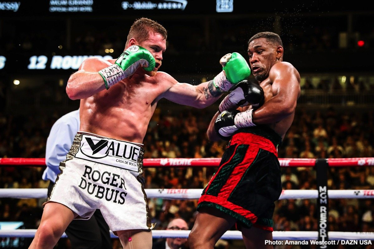 "Daniel Jacobs, DAZN, Saul ""Canelo"" Alvarez - Saul Canelo Alvarez (52-1-2, 35 KOs) boxed his way to a 12 round unanimous decision over Daniel Jacobs (35-3, 29 KOs) on Saturday night in their much talked about fight at the T-Mobile Arena in Las Vegas, Nevada. Neither fighter was hurt during the contest, although Jacobs nailed Canelo with a big right hand in the ninth round that got his attention."