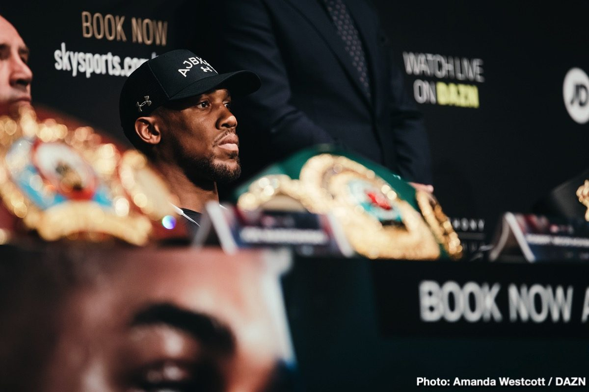 Anthony Joshua Deontay Wilder Boxing News