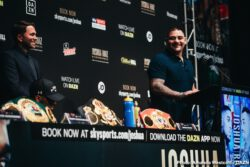 """Andy Ruiz Jr, Anthony Joshua - Eddie Hearn, Matchroom Boxing Managing Director: """"I think sometimes as a team or promoter you have to pinch with yourself whenever you're at Madison Square Garden, we have been lucky enough to stage two world championship events at the Theatre, but Matchroom Boxing will make our debut at Madison Square Garden as a promotional company and to do it for the unified Heavyweight championship in an absolute honor, and to do it while representing the Heavyweight Champion Anthony Joshua is an honor as well."""