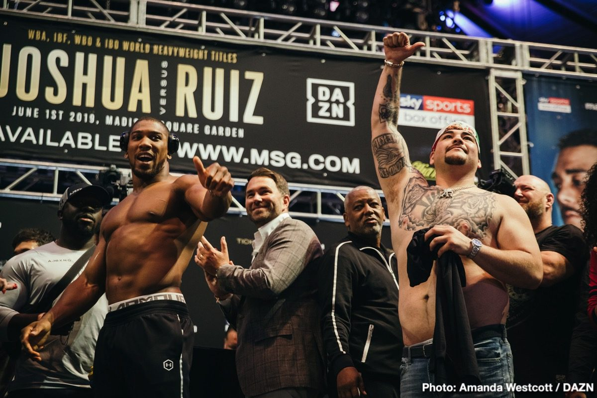 Andy Ruiz Anthony Joshua Boxing News Top Stories Boxing