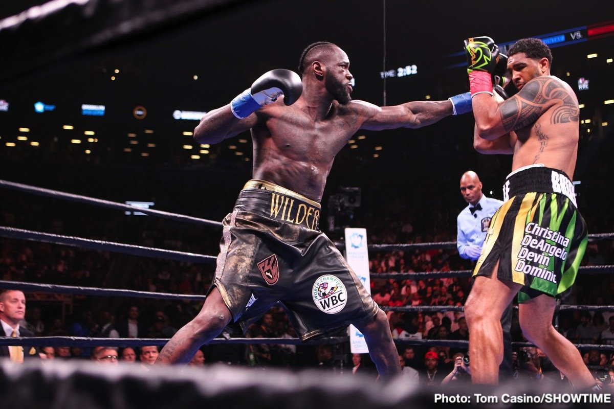 Photos Deontay Wilder Thrills Barclays Center Crowd With