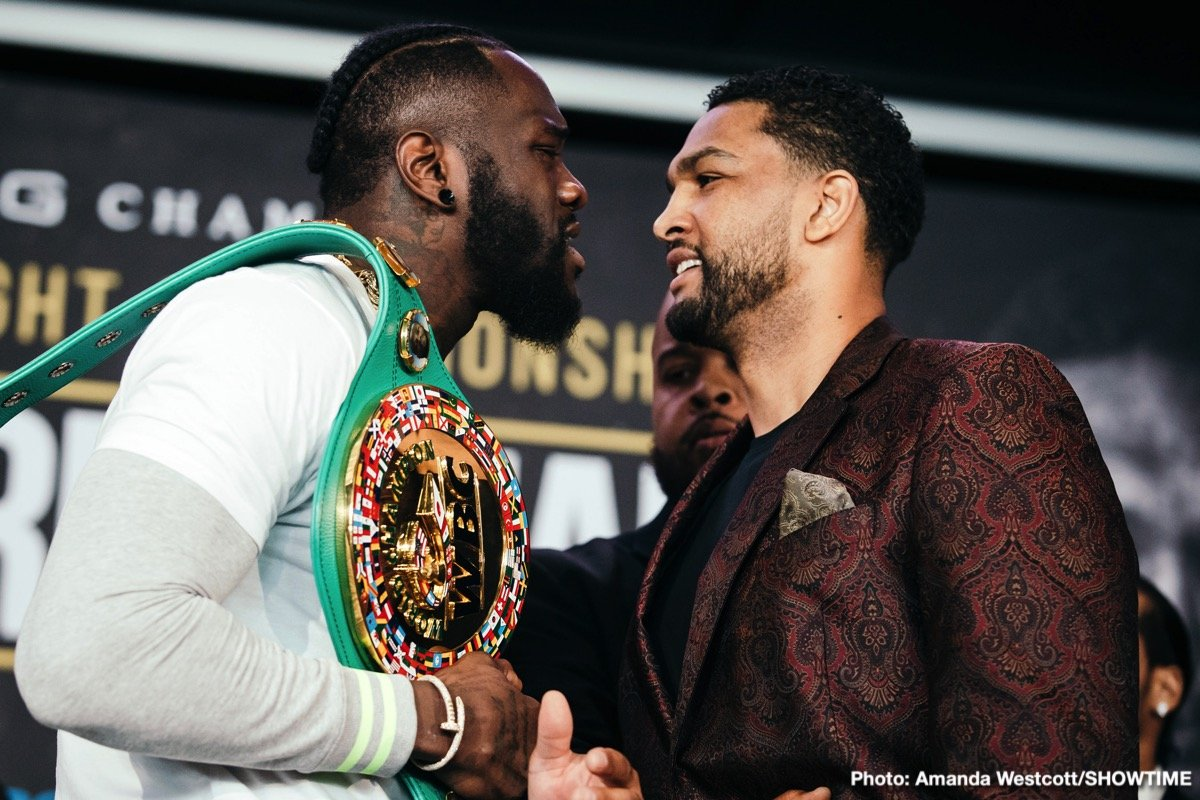 "WBC Heavyweight World Champion Deontay ""The Bronze Bomber"" Wilder and mandatory challenger Dominic ""Trouble"" Breazeale continued their war of words and further escalated their longstanding feud at the final press conference Thursday ahead of their showdown this Saturday live on SHOWTIME from Barclays Center, the home of BROOKLYN BOXING™, and presented by Premier Boxing Champions."