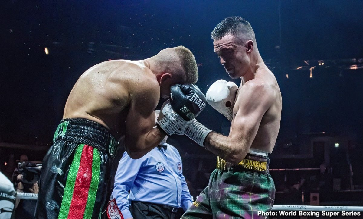 Josh Taylor - Josh Taylor (15-0, 12 KOs) dominated previously unbeaten IBF light welterweight champion Ivan Baranchyk (19-1, 12 Kos) in beating him by a 12 round unanimous decision on Saturday night to advance to the final of the World Boxing Super Series light welterweight tournament at The SSE Hydro in Glasgow, Scotland.