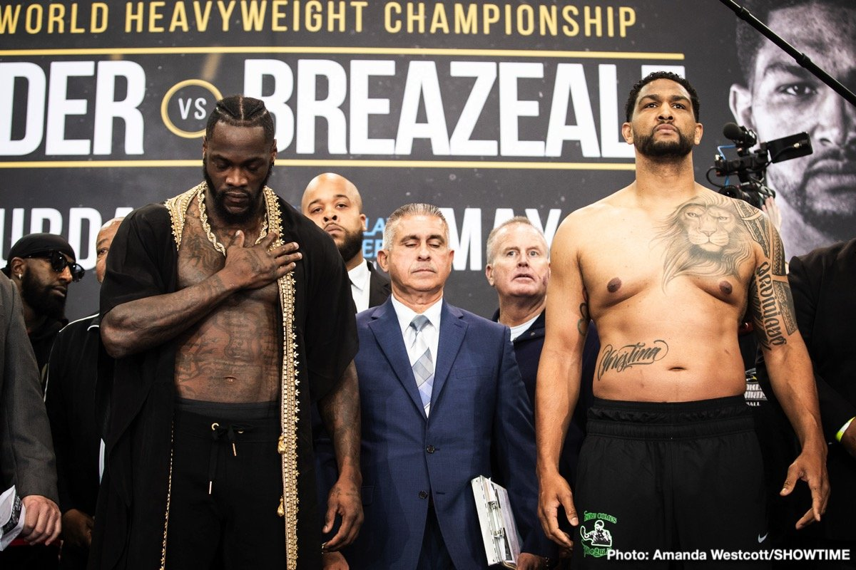 Deontay Wilder, Dominic Breazeale - Boxing News