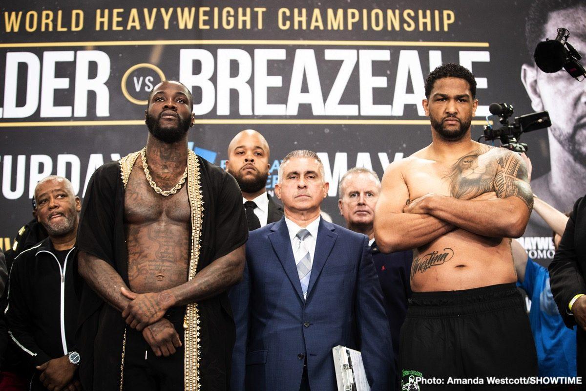 Deontay Wilder Dominic Breazeale Emmanuel Rodriguez Ivan Baranchyk Josh Taylor Naoya Inoue Boxing News Top Stories Boxing