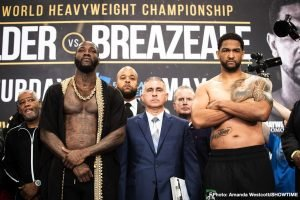 Dominic Breazeale -  This Saturday night Deontay Wilder and the World Boxing Super Series returns on Showtime and DAZN. Wilder defends his WBC heavyweight strap versus mandatory challenger Dominic Breazeale. The WBSS semifinals matchups feature Josh Taylor vs. Ivan Baranchyk at 140 and Naoya Inoue vs. Emmanuel Rodriguez at 118.