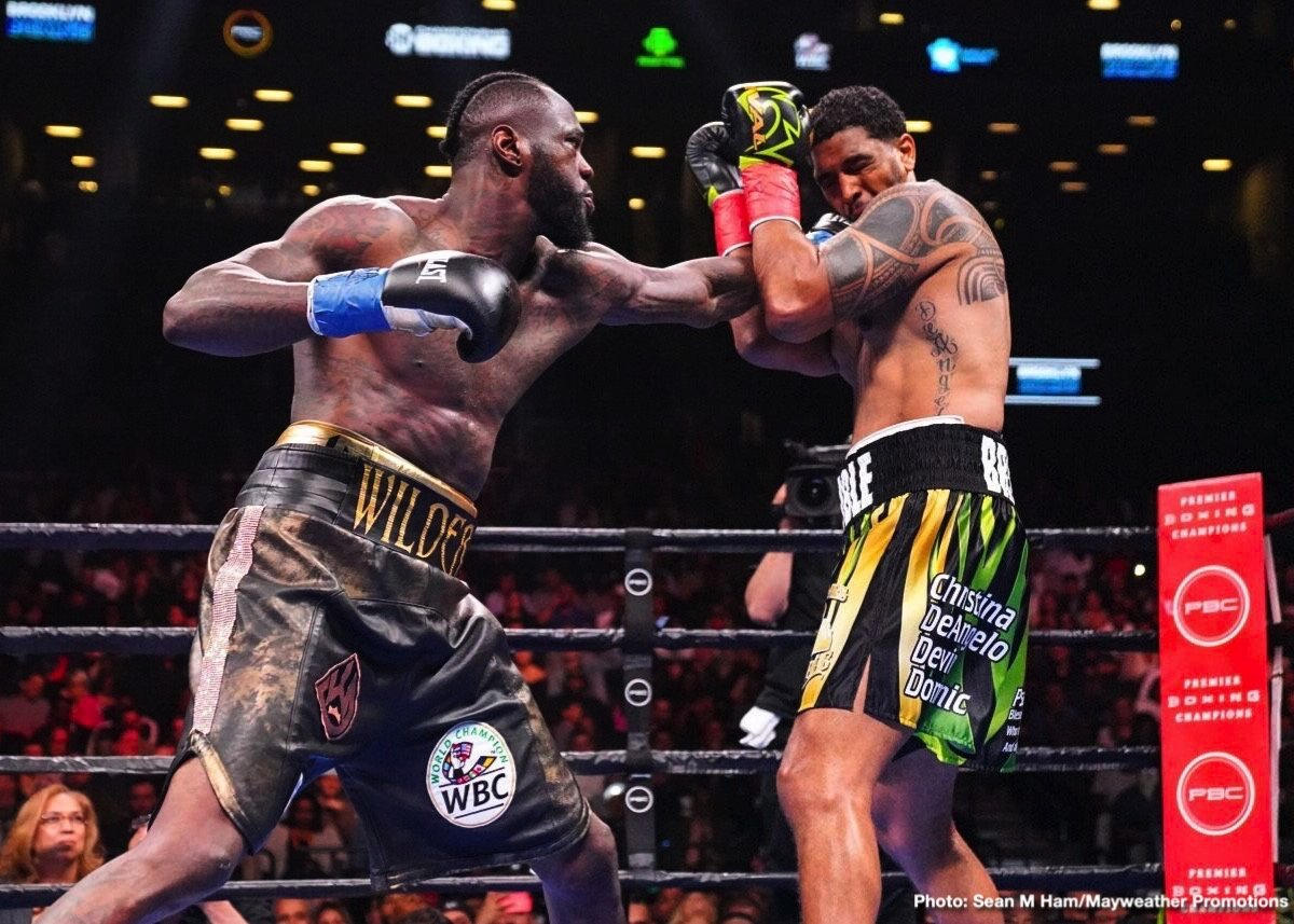 "Dominic ""Trouble"" Breazeale - The last time we saw reigning and defending WBC heavyweight champ Deontay Wilder in the ring he wasn't in there for too long at all. In fact, for less than three minutes. Wilder took care of his mandatory challenger, Dominic Breazeale, and he did so in impressive, big-punching fashion; the kind we have grown accustomed to seeing whenever ""The Bronze Bomber"" fights."