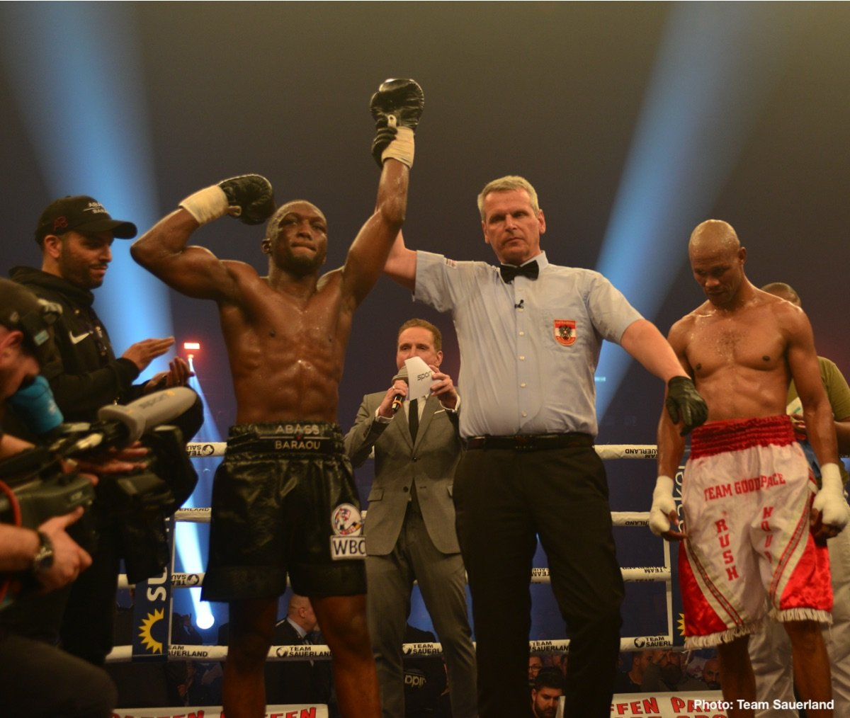 Abass Baraou - German light heavyweight Leon Bunn (14-0, 8 KOs) claimed the IBF International title by defeating countryman Leon Harth (18-4, 12 KOs) via technical knockout last night at the Fraport Arena in Frankfurt.