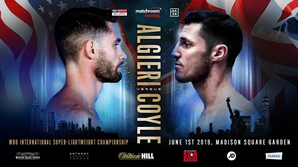 Chris Algieri, Tommy Coyle - Chris Algieri and Tommy Coyle will clash in a crossroads showdown on Saturday June 1 at Madison Square Garden, New York, live on DAZN in the US and Sky Sports Box Office.