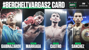 Mykal Fox - Miguel Marriaga, Jason Sanchez, and Carlos Castro to see action in separate bouts - LIVE on ESPN+ beginning at 6:30 p.m. ET/3:30 p.m. PT