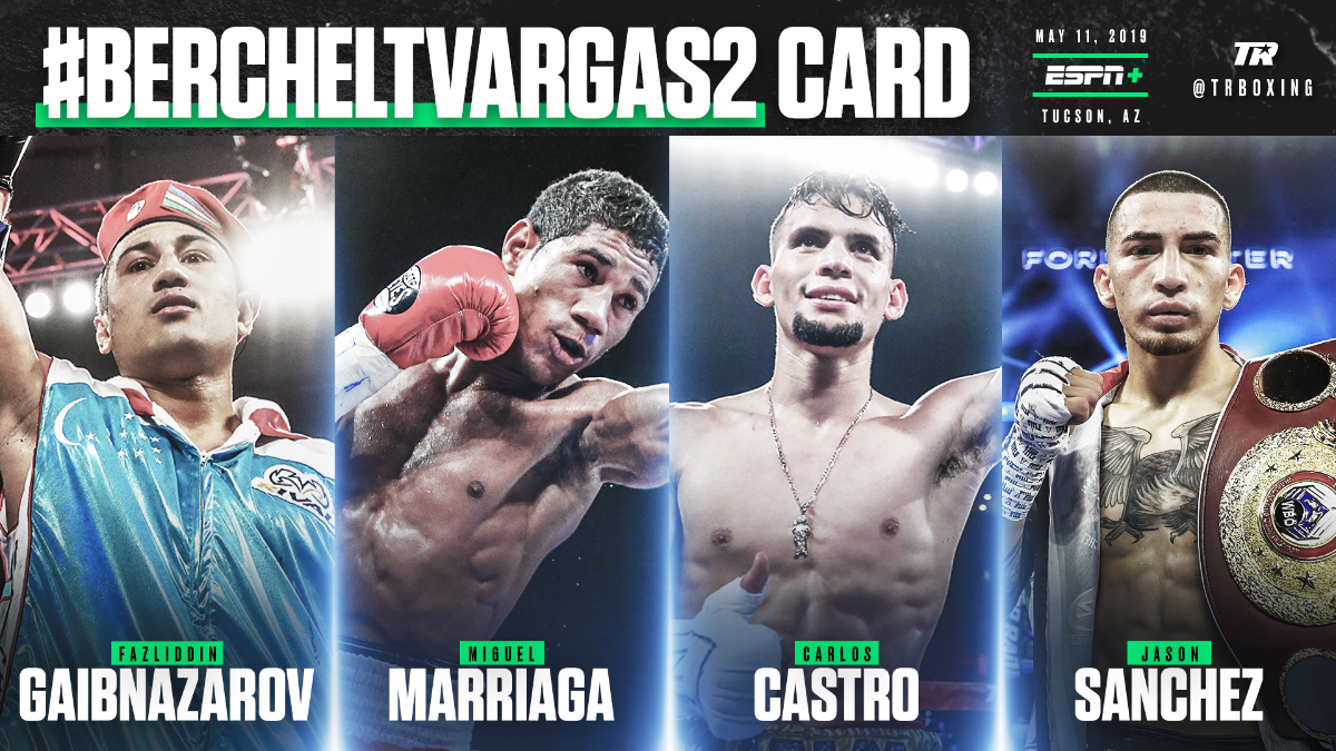 Miguel Marriaga, Jason Sanchez, and Carlos Castro to see action in separate bouts - LIVE on ESPN+ beginning at 6:30 p.m. ET/3:30 p.m. PT