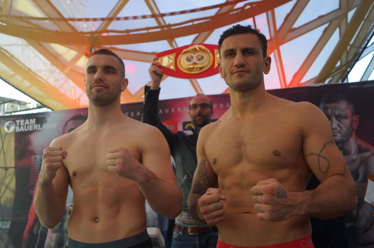 - German rivals Leon Bunn (13-0, 7 KOs) and Leon Harth (18-3, 12 KOs) took to the scales today in Frankfurt ahead of their IBF International Light Heavyweight title clash tomorrow night at the Fraport Arena.