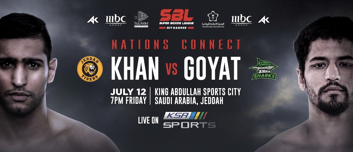 "Amir Khan - It has been reported just minutes ago how Amir Khan's big (big money for sure) fight in Saudi Arabia set for July 12th is now off. At least Khan will not fight the man he was supposed to face. Khan's scheduled opponent, Neeraj Goyat has been badly injured in a serious car crash and he has been hospitalized with ""severe injuries"" according to various reports."