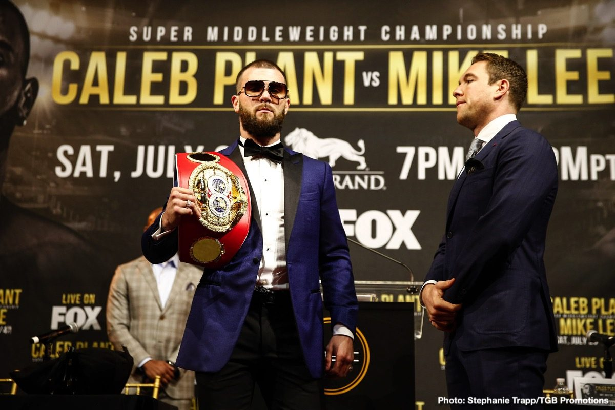 Caleb Plant Mike Lee Boxing News