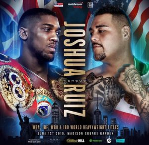 """DAZN - Andy Ruiz Jr. says he plans on showing IBF/WBA/WBO heavyweight champion Anthony Joshua no respect this Saturday night when the two of them battle it out on DAZN and Sky Box Office at Madison Square Garden in New York. Although the 31-year-old Ruiz Jr. is an underdog in the fight, he feels quite confident that he's going to be able to take advantage of the flaws that he's seen in the game of the heavily muscled 6'6"""" Joshua on Saturday night."""