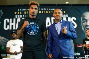 Brandon Adams - Unbeaten middleweight champion Jermall Charlo and middleweight contender Brandon Adams went face-to-face at the final press conference Thursday before they square off this Saturday night in the main event live on SHOWTIME from NRG Arena in Houston and presented by Premier Boxing Champions.