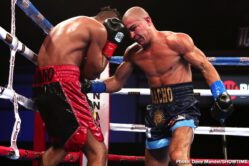 Sebastian Fundora - Undefeated prospect Sebastian Fundora used his five-and-a-half-inch height advantage to cruise to victory Friday night in his first ShoBox: The New Generation appearance, forcing a TKO stoppage of Manuel Zepeda after four rounds from WinnaVegas Casino in Sloan, Iowa.