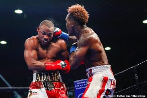 """Demetrius Andrade, Jermall Charlo - The middleweight division is currently as talent-rich as it it confusing. Just who is the top dog at 160? It would seem to be a relatively easy question to answer: the world champion is the best. But Canelo Alvarez, recently promoted to something called the """"franchise champion"""" at the weight, may well be leaving the 160 pound division behind him in his next fight, perhaps for good."""
