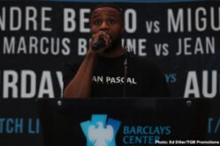 "Adam Kownacki, Andre Berto, Chris Arreola, Jean Pascal, Marcus Browne, Miguel Cruz - Polish star and heavyweight contender Adam Kownacki and former title challenger Chris ""The Nightmare"" Arreola went face to face Tuesday at a press conference in Brooklyn as they previewed their showdown that headlines FOX PBC Fight Night and on FOX Deportes Saturday, August 3 from Barclays Center, the home of BROOKLYN BOXING™."