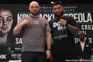 "Jean Pascal - Polish star and heavyweight contender Adam Kownacki and former title challenger Chris ""The Nightmare"" Arreola went face to face Tuesday at a press conference in Brooklyn as they previewed their showdown that headlines FOX PBC Fight Night and on FOX Deportes Saturday, August 3 from Barclays Center, the home of BROOKLYN BOXING™."