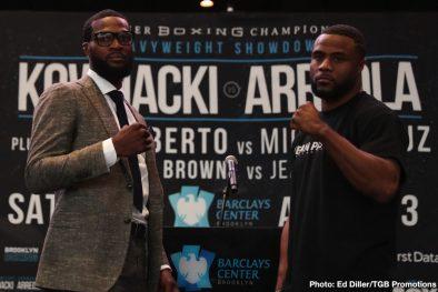 Adam Kownacki Andre Berto Chris Arreola Jean Pascal Marcus Browne Miguel Cruz Boxing News
