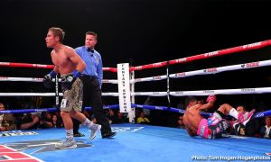 """Alberto """"El Explosivo"""" Machado - The highly anticipated rematch lived up to the hype on Friday night at Fantasy Springs Resort Casino, as Andrew Cancio (21-4-2, 16 KOs) stopped Alberto Machado (21-2,17 KOs) once again to retain his WBA Super Featherweight Title."""