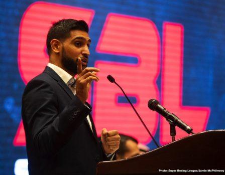 Amir Khan Neeraj Goyat British Boxing Press Room