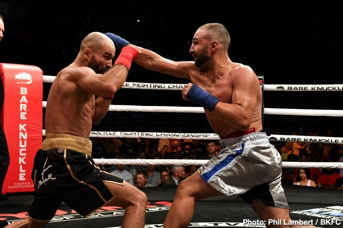 Artem Lobov, Paulie Malignaggi - While some fans were not exactly sure what to expect from last night's bare knuckle fight between former two-time world champion Paulie Malignaggi and MMA warrior Artem Lobov, one thing that was expected was blood. And fans got blood; and more than likely a broken bone or two.