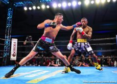 Devon Alexander, Hugo Centeno Jr, Ivan Redkach, Willie Monroe Jr. -  Middleweight Ivan Redkach (23-4-1,18 KO) made a statement as he knocked down former world champion Devon Alexander not one, not two, but three times in the sixth round of a scheduled 10-round bout, forcing referee Thomas Taylor to wave off the fight at 1:10 of the sixth round in the main event of PBC on FS1 and FOX Deportes from Soboba Casino in San Jacinto Calif.