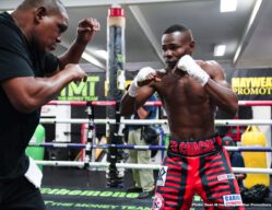 Chris Colbert, Guillermo Rigondeaux, Jermell Charlo, Jorge Cota, Julio Ceja - Former world champion Jermell Charlo and hard hitting Jorge Cota took part in a media workout Thursday as they near their main event showdown that headlines Premier Boxing Champions on FOX and FOX Deportes this Sunday night from Mandalay Bay Events Center in Las Vegas.