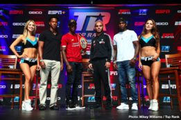 Ray Beltran, Richard Commey - The road to lightweight supremacy continues Friday at Pechanga Resort Casino when IBF world lightweight champion Richard Commey (28-2, 25 KOs) makes the first defense of his title against former lightweight world champion Ray Beltran (36-8-1, 22 KOs). Weights: