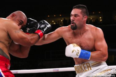 """Alex Leapai, DAZN, Joseph Parker, Maciej Sulecki -  In front of a packed hometown crowd of 7,136, Demetrius """"Boo Boo"""" Andrade (28-0, 17 KOs) successfully defended his WBO Middleweight World Champion against dangerous challenger Maciej Sulecki (28-2, 11 KOs) at the Dunkin' Donuts Center in Providence, Rhode Island, and live exclusively on DAZN. Andrade, 31, scored a first-round knockdown and did not cede a single round on the scorecards en route to a dominating unanimous decision."""