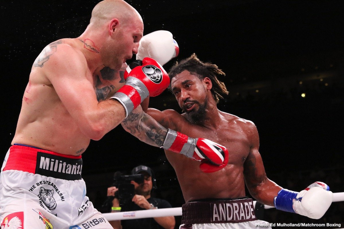 """Alex Leapai -  In front of a packed hometown crowd of 7,136, Demetrius """"Boo Boo"""" Andrade (28-0, 17 KOs) successfully defended his WBO Middleweight World Champion against dangerous challenger Maciej Sulecki (28-2, 11 KOs) at the Dunkin' Donuts Center in Providence, Rhode Island, and live exclusively on DAZN. Andrade, 31, scored a first-round knockdown and did not cede a single round on the scorecards en route to a dominating unanimous decision."""