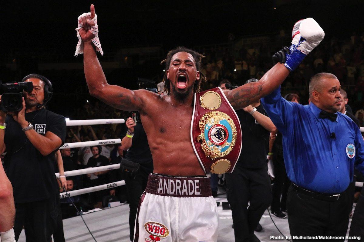 DAZN Demetrius Andrade Eddie Hearn Gennadiy Golovkin Boxing News