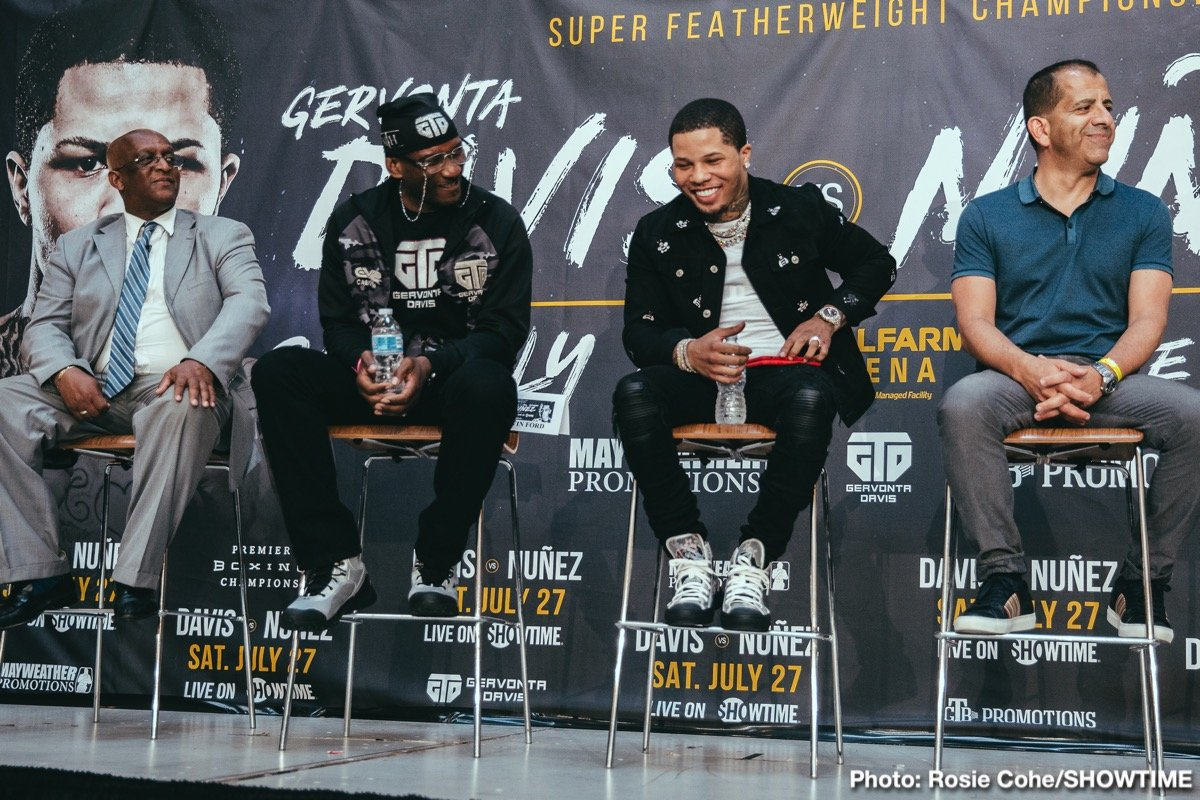 "Gervonta ""Tank"" Davis - Leonard Ellerbe - Thank you. I'd like to thank everyone for joining the call today. Mayweather Promotions is really thrilled to bring this very exciting event to where it all started for our two-time super featherweight champion, who really beat the odds to making it to where he is now and it's only really the beginning for Gervonta Davis."