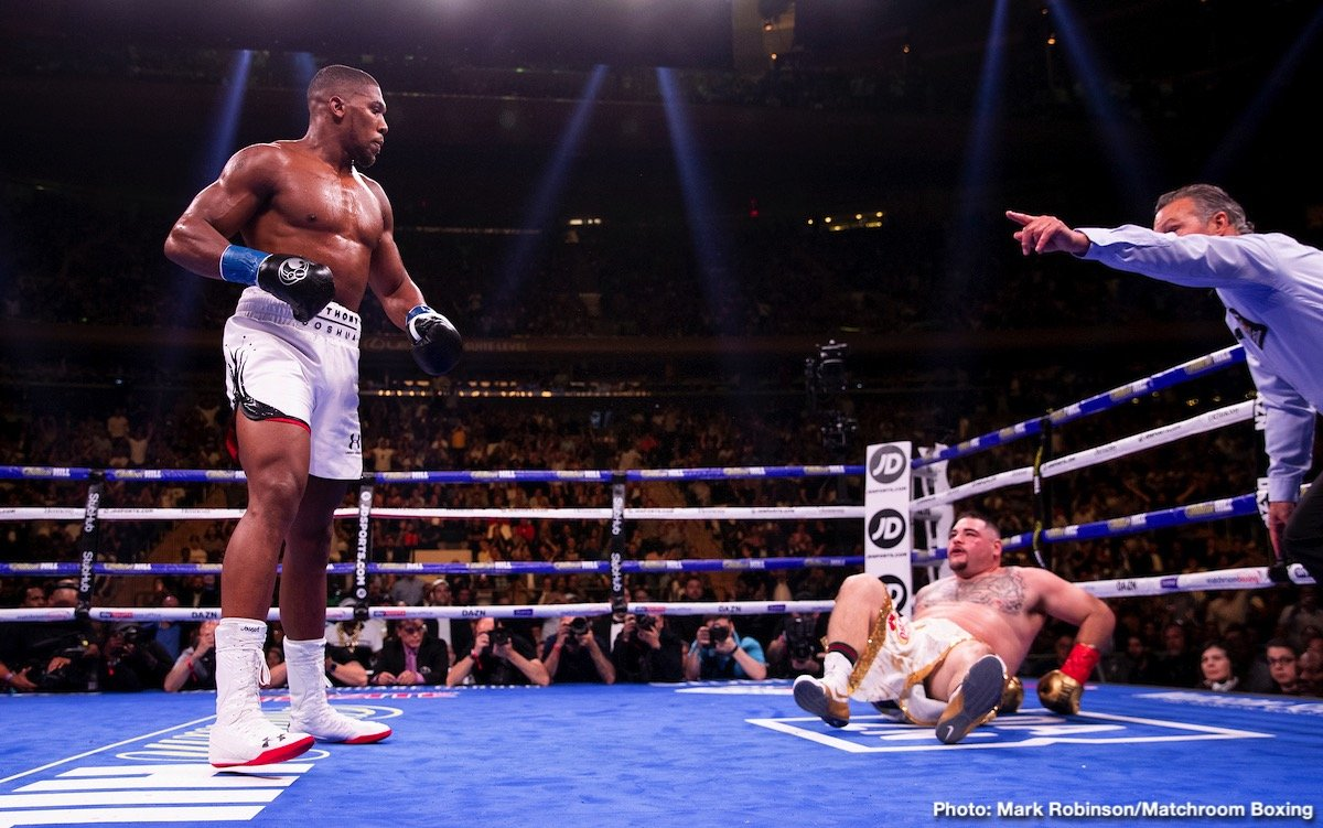 "Andy Ruiz, Anthony Joshua - Rewind to late May, and ESB ran an article entitled: 'What If: Andy Ruiz beats Anthony Joshua?' And though the title, or the question posed in the article's headline, drew a ton of derision – no way would ""fat"" Andy Ruiz beat unbeaten heavyweight champ A.J was the general line of thinking, and shame on the writer for even being foolish enough to ask the question in the first place - the upset indeed came on June 1, with ""Destroyer"" Ruiz living up to his nickname; his physique be darned."