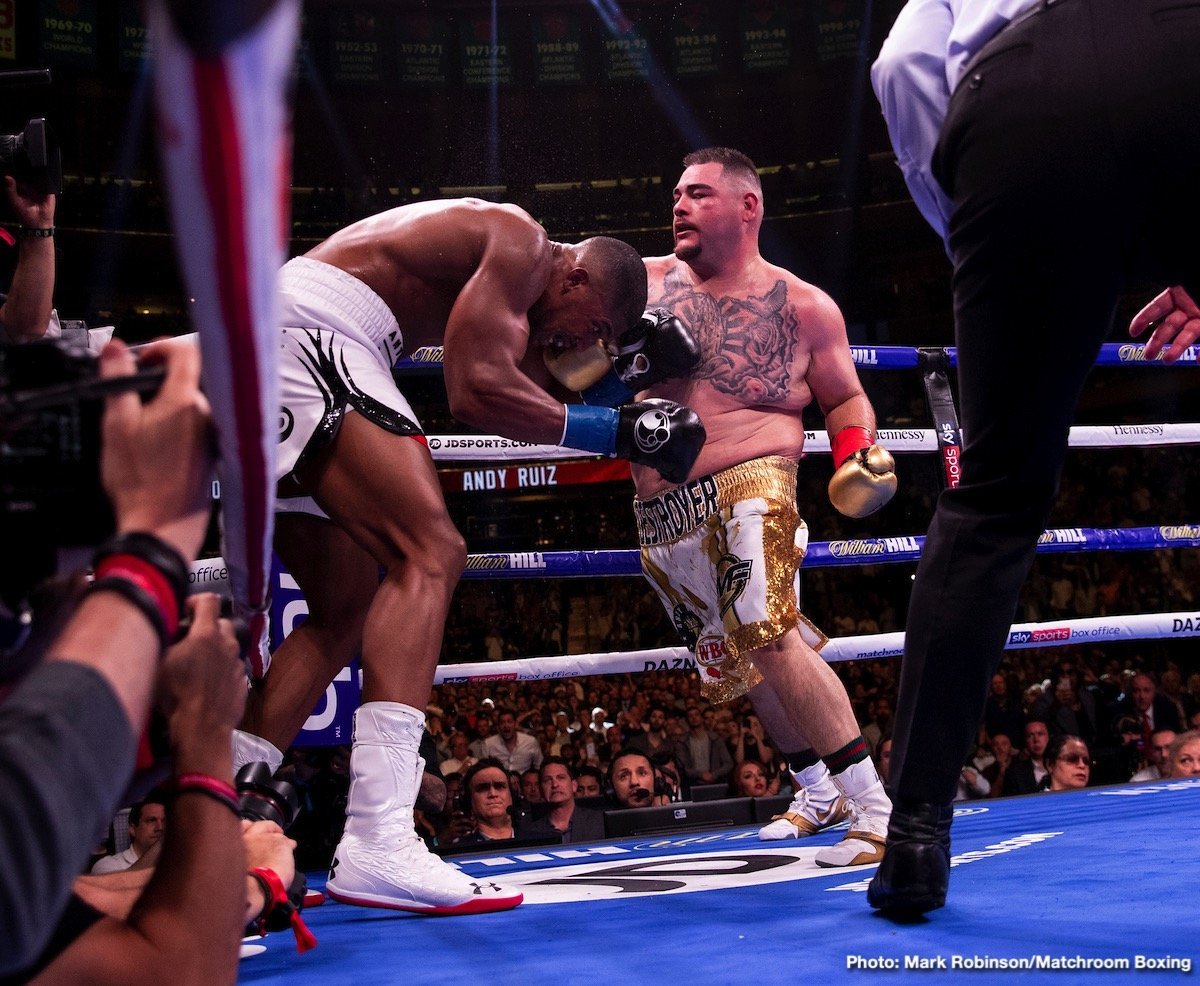 Andy Ruiz - All of a sudden, it's one of the biggest fights in boxing regardless of weight class. I'm talking about a 'Repeat or Revenge' match between Andy Ruiz and Anthony Joshua, and who doesn't want to see a sequel between the two men who both played their part in lighting up Madison Square Garden this past Saturday night?