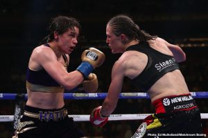 Katie Taylor - Rivals collide on August 22 following New York WAR--The biggest rematch in the history of women's boxing has been confirmed for Matchroom Fight Camp as Katie Taylor defends her WBC, WBA, IBF, WBO and Ring Magazine Lightweight World Titles against Delfine Persoon on Saturday August 22, live on Sky Sports Box Office.