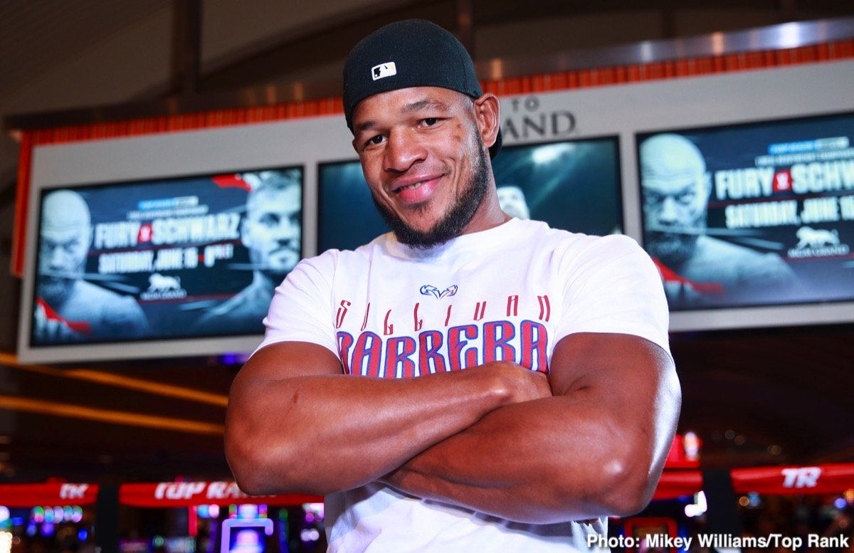 Apinun Khongsong, Marcus Browne, Sullivan Barrera - Light heavyweight contender Sullivan Barrera is 100% healthy and ready to return to the ring.