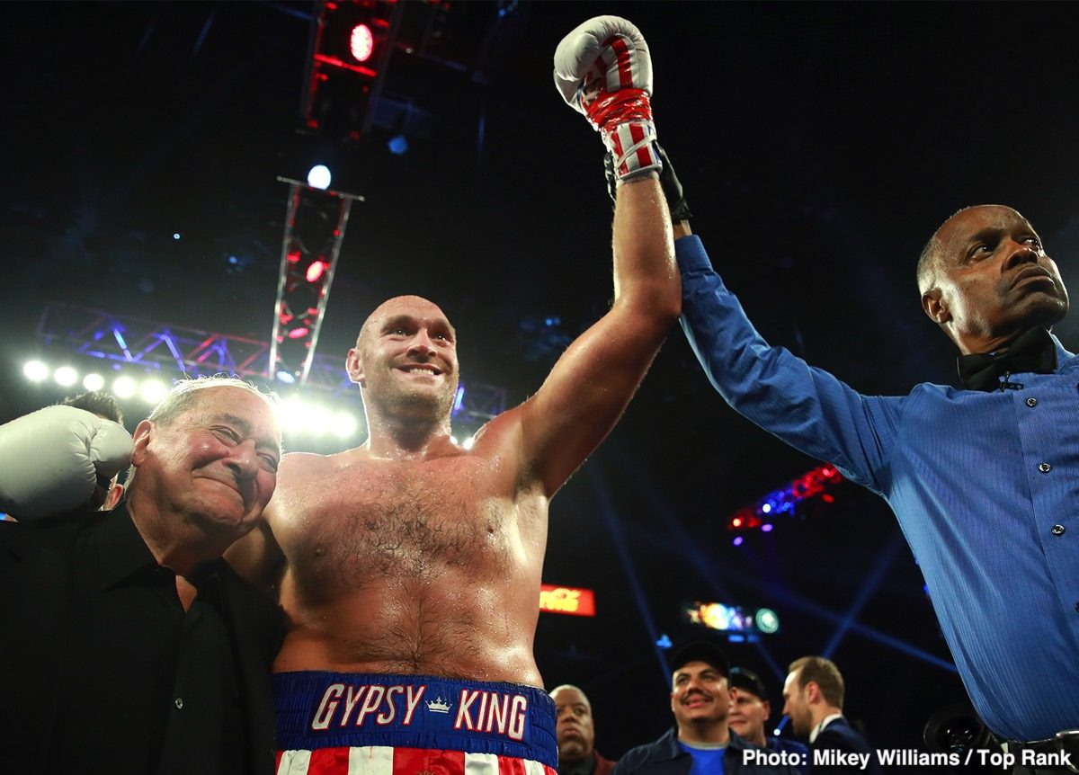 Bob Arum, Deontay Wilder, Tyson Fury - Boxing News