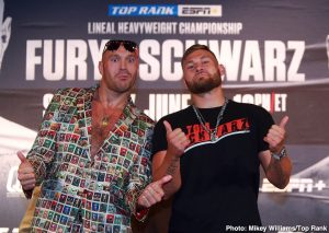 Sullivan Barrera - This Saturday, June 15, ESPN+ will bring boxing fans an exclusive Top Rank Boxing triple-header, culminating with unbeaten lineal heavyweight champion Tyson Fury against top contender Tom Schwarz in Las Vegas.