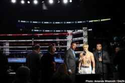 """Gennady Golovkin, Steve Rolls - The Big Drama Show is back! In his much-anticipated DAZN debut, live from the Mecca of Boxing and in front of an electric crowd of 12,357 fans, pound-for-pound Kazakh superstar Gennadiy """"GGG"""" Golovkin (39-1-1, 35 KOs) once again proved he's a force to be reckoned with as he returned to the ring and knocked out undefeated Toronto native Steve Rolls (19-1, 10 KOs) with a devastating left hook to the chin in Round 4 on Saturday night. This victory paves the way for what fans – and GGG himself – hope to be an epic trilogy showdown against middleweight king Canelo Alvarez in September."""