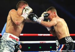Óscar Valdez - For the third time in his WBO featherweight world title reign, Oscar Valdez turned away the challenge of a previously undefeated fighter. Valdez, a two-time Olympian for his native Mexico, defeated Albuquerque product Jason Sanchez via unanimous decision to defend his world title for the sixth time.