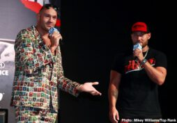Jesse Hart, Sullivan Barrera, Tom Schwarz, Tyson Fury - Ten minutes before the press conference was set to begin, Tyson Fury waltzed onto the stage at the David Copperfield Theater and started the proceedings early. The Tyson Fury Show had officially hit the Vegas Strip.