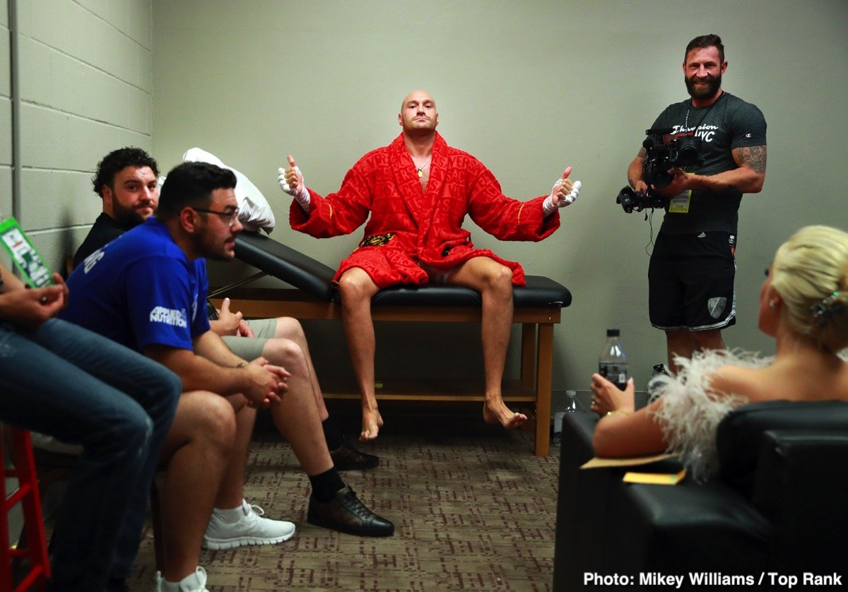 """Tyson Fury - Proud lineal heavyweight title claimant Tyson Fury will have one more fight before his """"announced"""" (by Fury himself) return clash with WBC ruler Deontay Wilder. Fury is eyeing a fight in New York on October 5 and his foe of choice is suspended drugs cheat Jarrell Miller. But if """"Big Baby"""" Miller is not allowed to box by October, Fury will turn his attention towards another unbeaten fighter in Trevor Bryan."""