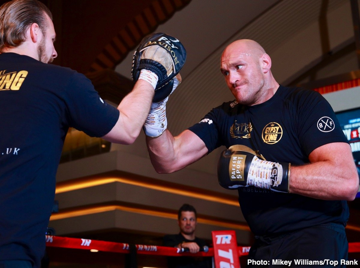 Top Rank Boxing - Boxing politics could be about to strike again. Lineal heavyweight champion Tyson Fury has spoken of the possibility of his fight on Saturday night with Tom Schwarz being for the vacant WBO belt. As fans know, Andy Ruiz ripped the WBO title, along with the WBA and IBF, from Anthony Joshua in his massive June 1 upset. But Fury seems to think the WBO may move to strip Ruiz of their title for facing AJ in a return fight and not fulfilling his mandatory requirements.